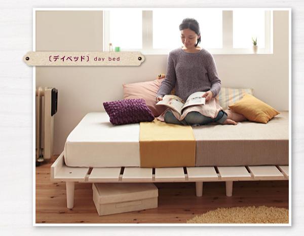 サイドテーブルができる北欧ベッド