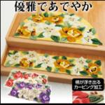 花柄の玄関マット通販紹介