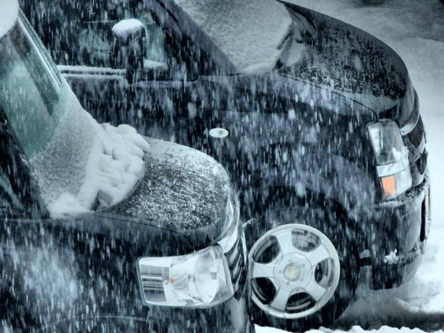 ドカ雪の道は注意