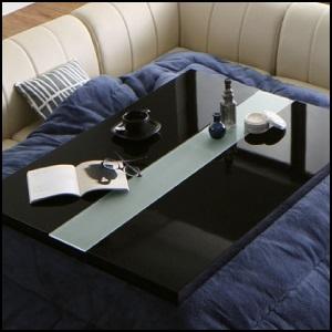 ミッドナイトブルーカラーのアーバンこたつテーブル布団