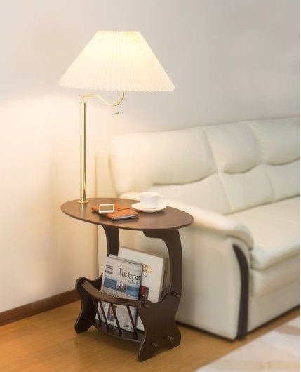 ランプ付きサイドテーブル